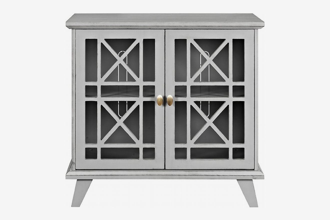 Matheus Fretwork 2 Door Accent Cabinet