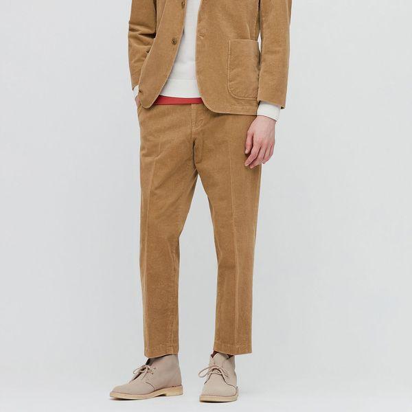 Uniqlo Men Smart 2-Way Stretch Corduroy Ankle Length Pants