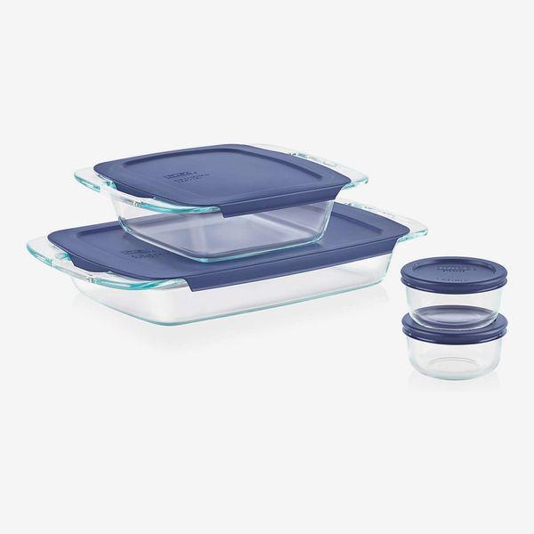 Pyrex Grab Glass Bakeware and Food Storage Set (8-Piece)