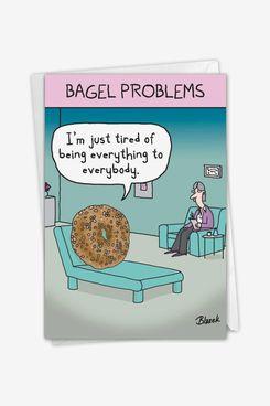 NobleWorks Bagel Problems Mother's Day Card