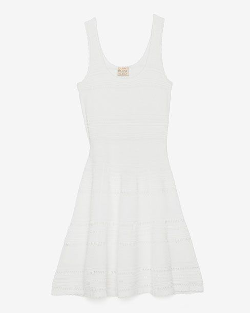 Torn White Flare Tank Dress, $278