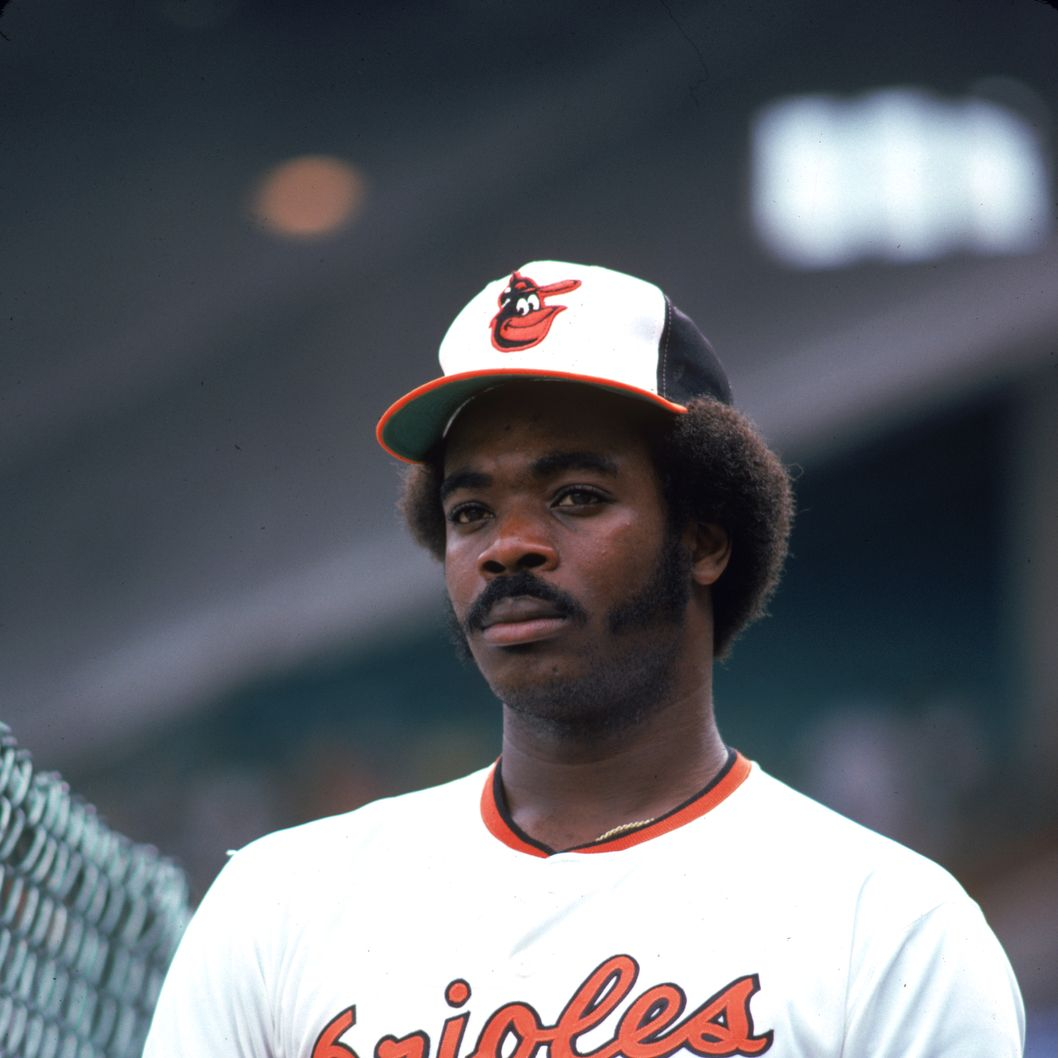 Eddie Murray of the Baltimore Orioles poses for a portrait before a game at Memorial Stadium in Baltimore, Maryland.