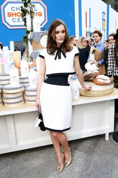 Actress Keira Knightley attends the Chanel show as part of the Paris Fashion Week Womenswear Fall/Winter 2014-2015 on March 4, 2014 in Paris, France.