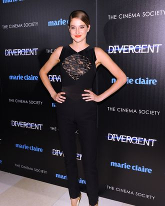 Actress Shailene Woodley attends the Marie Claire & The Cinema Society screening of Summit Entertainment's