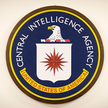 08 Dec 2008, McLean, Virginia, USA --- The official Central Intelligence Agency (CIA) department seal.  --- Image by ? Brooks Kraft/Corbis