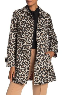 The model is wearing a kate spade new york Leopard Print Trench Coat, tan high waisted pants and black shirt. 33 Things on Sale You'll Actually Want to Buy: From Adidas to Le Creuset - The Strategist