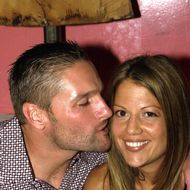 Kansas City Royals Chuck Knoblauch and fiancee Stacey at Noel Ashman's Veruka for Knoblauch's 34th birthday.