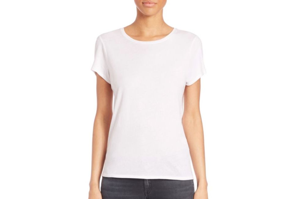 Don't limit white T-shirts to cotton. Cuyana elevates the classic top with luxurious, heavyweight silk. Each is made in New York City, and the mileage you'll get .