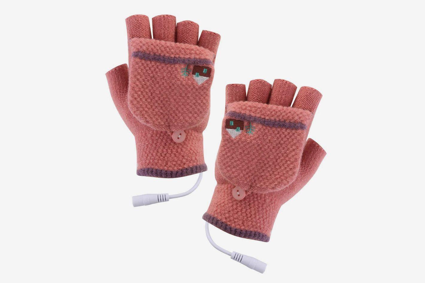 USB Heated Fingerless Gloves