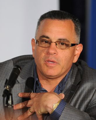 John Gotti, Jr. attends the Gotti press conference at Sheraton New York Hotel & Towers, Central Park West Room on April 12, 2011 in New York City.