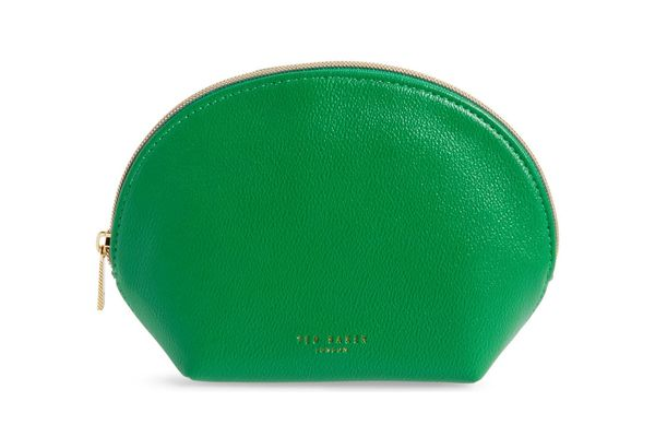 Ted Baker London Faux Leather Zip Pouch