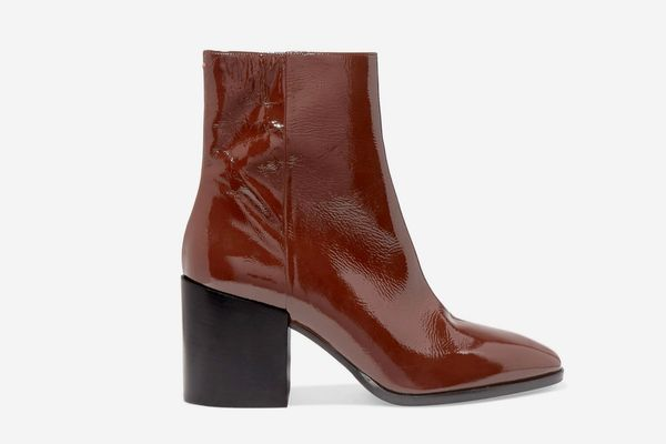 Aeyde Leandra Patent Leather Ankle Boots
