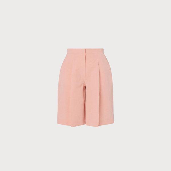 L.K. Bennett Sweatpea Pink Linen-Blend Shorts
