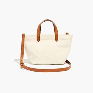 Canvas Zip-Top Crossbody