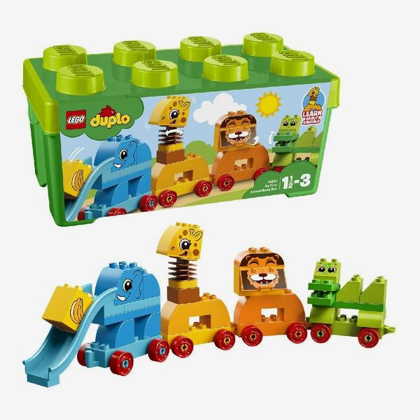 LEGO 10863 DUPLO My First Animal Brick Box Storage Set with Zoo Train