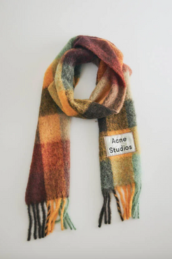 Acne Studios Vally Scarf in Chestnut Brown