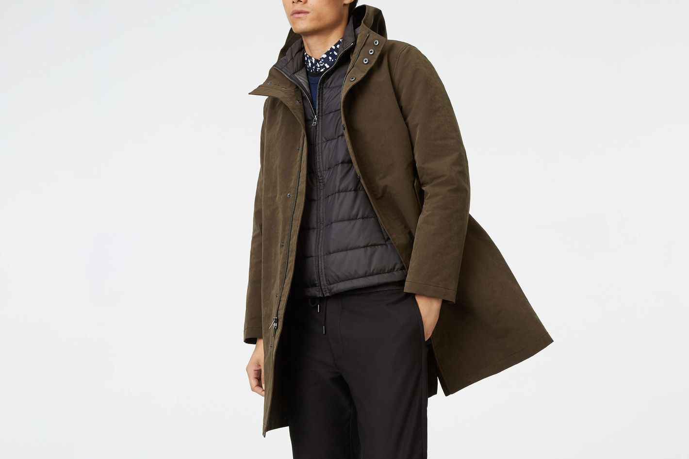 Club Monaco Hooded Tech Mac Coat