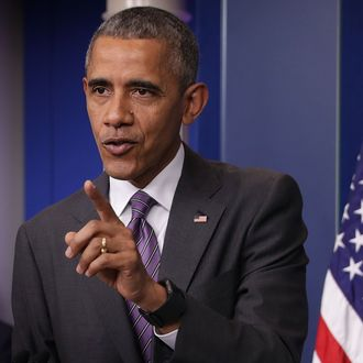 President Obama Drops By College Reporter Day In The White House Briefing Room
