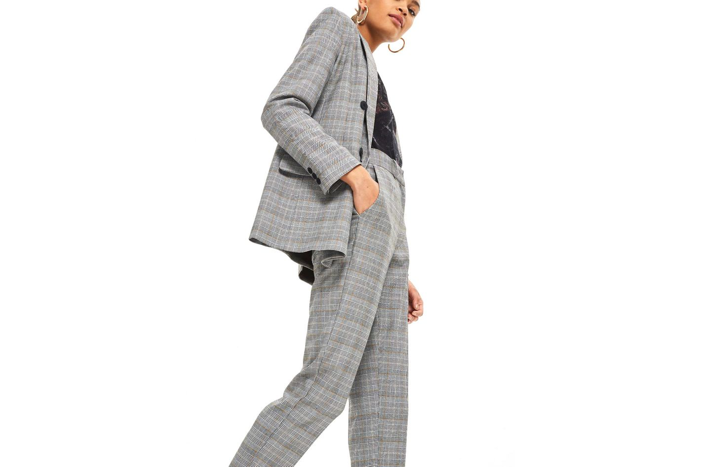 Topshop Double-Breasted Suit