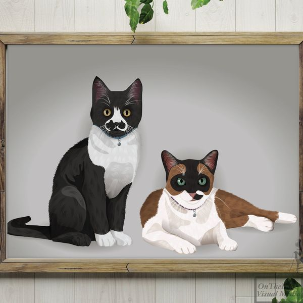 Two-Subject Digital Pet Portrait