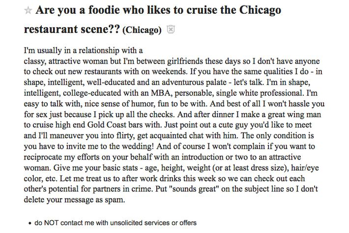Craigslist women seeking men. chicago