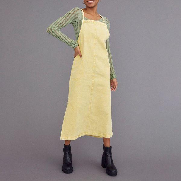 UO Ryan Midi Apron Dress