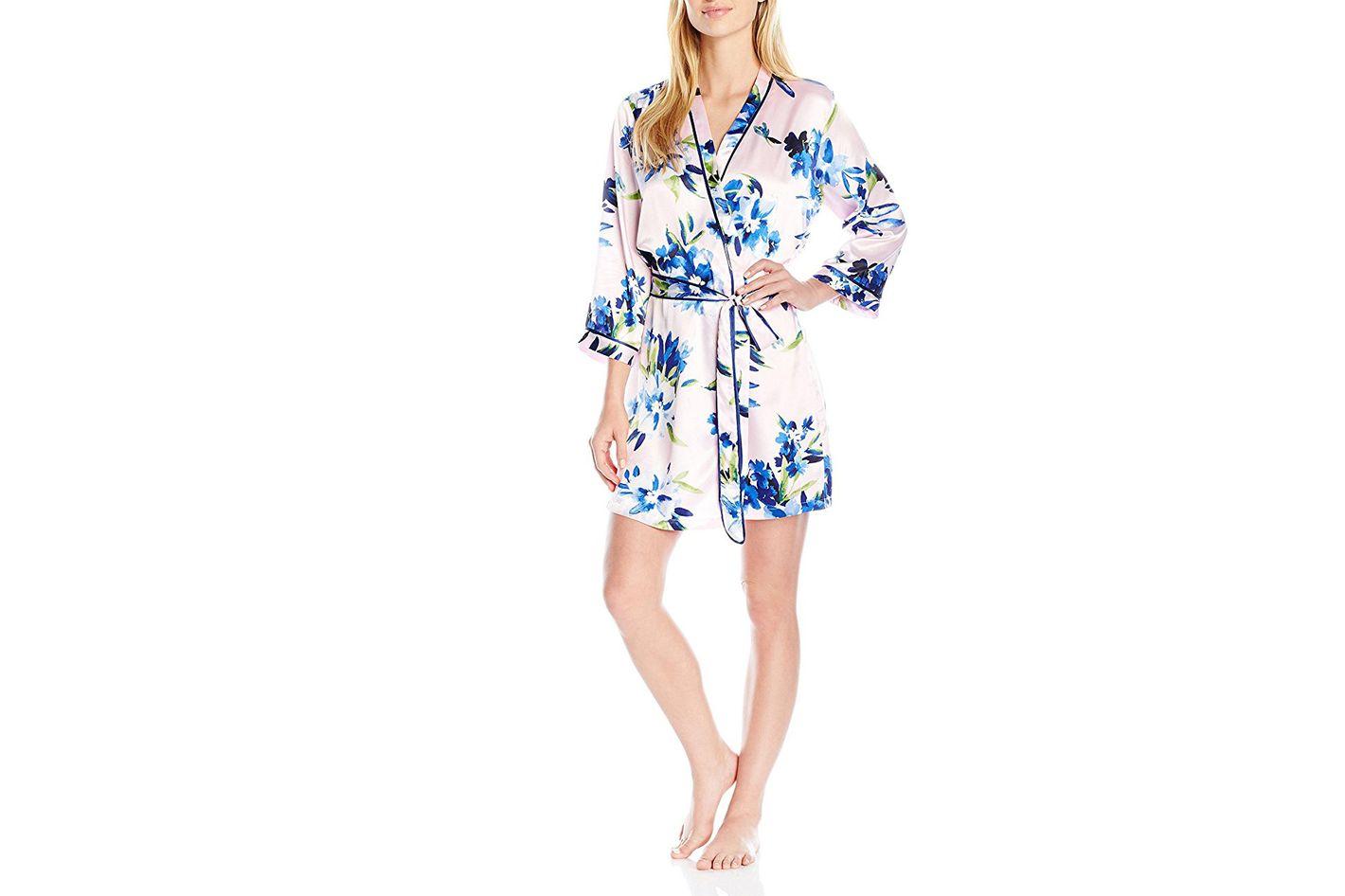 Oscar de la Renta pink label printed robe