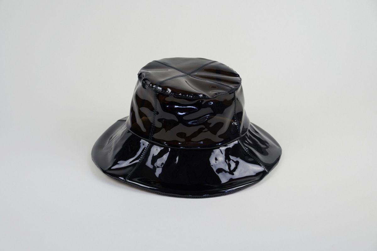 Clyde Bucket Hat in Smoke Vinyl