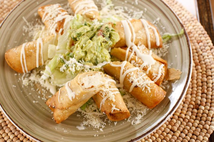 Flautas de queso: rolled tortilla stuffed with cheese and fried.