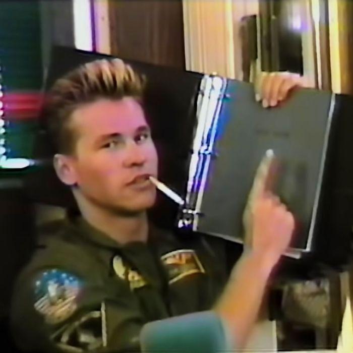 Val Kilmer on the set of Top Gun in Val.
