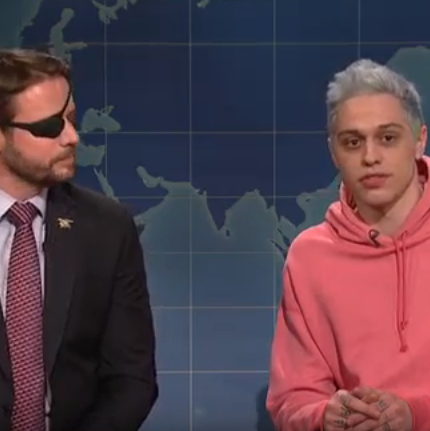 Dan Crenshaw and Pete Davidson.