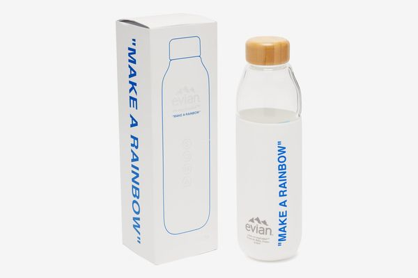 Evian by Virgil Abloh Silicone-Sleeve Glass Water Bottle