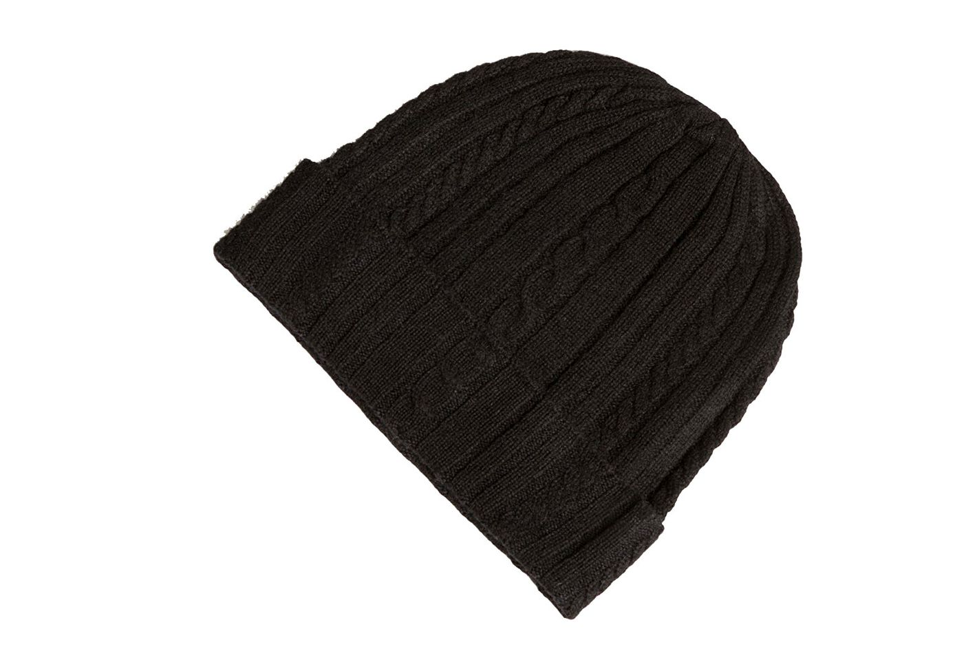 Fishers Finery 100% Pure Cashmere Cable Knit Hat