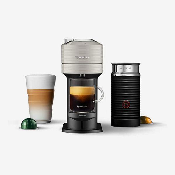 Nespresso Vertuo Next Coffee and Espresso Machine with Aeroccino by Breville, Light Grey