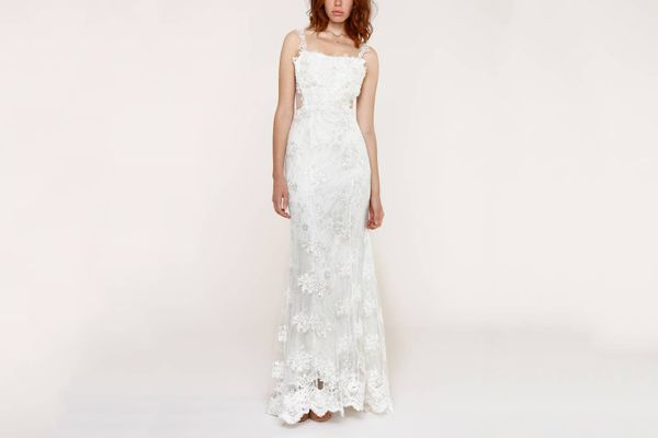 HEARTLOOM Andie Illusion Side Lace Mermaid Gown