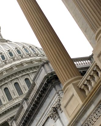 WASHINGTON, DC - NOVEMBER 21: U.S. The U.S. Capitol is seen as Republican and Democratic members of the
