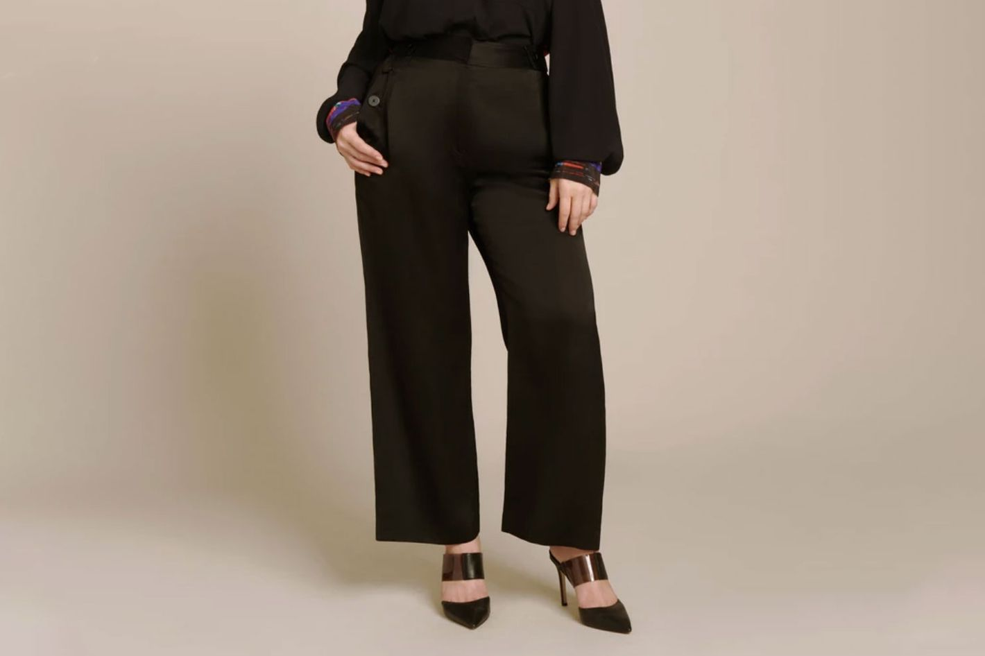 Derek Lam 10 Crosby Slim Culotte with Button Detail