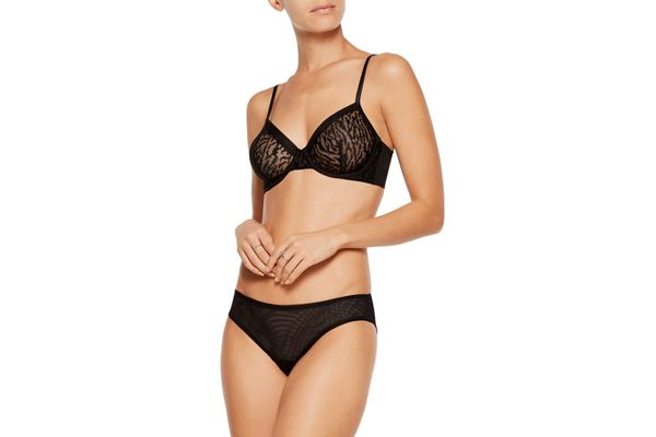 La Perla Feline Chic Embroidered Stretch-tulle Underwired Bra