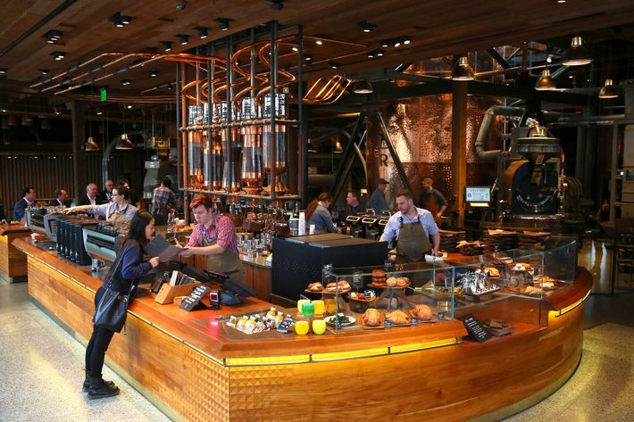 The scene at the Seattle roastery.