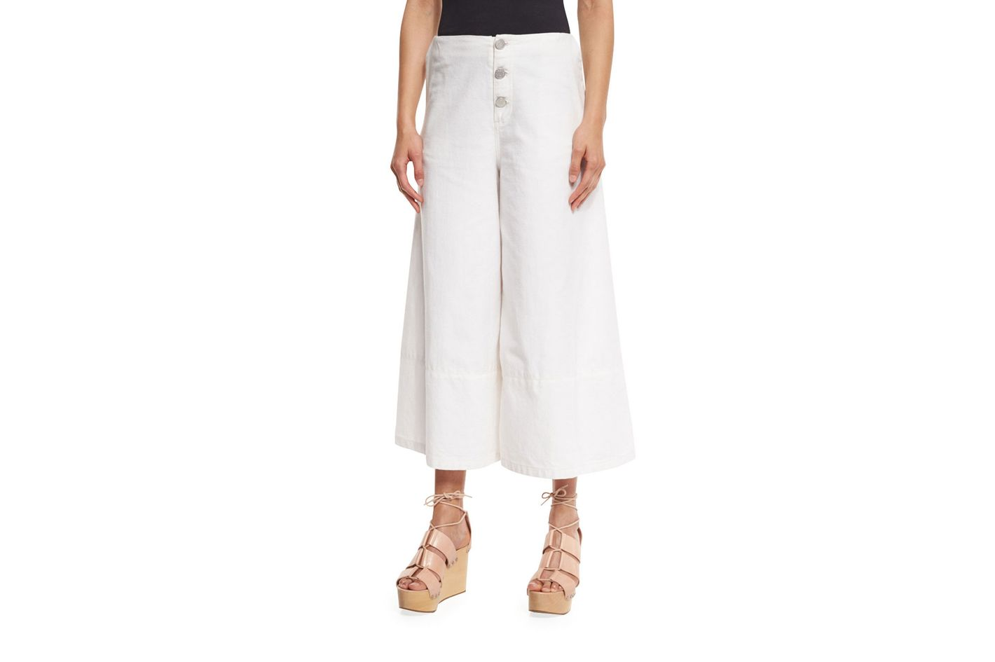 See by Chloe Button-Front Cotton Culottes