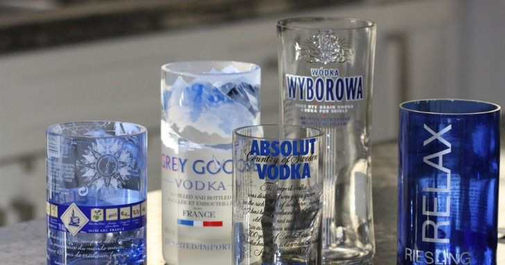 This device will turn old bottles into drinking cups for Alcohol bottles made into glasses