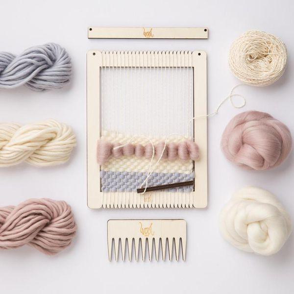 Small rectangular lap loom kit
