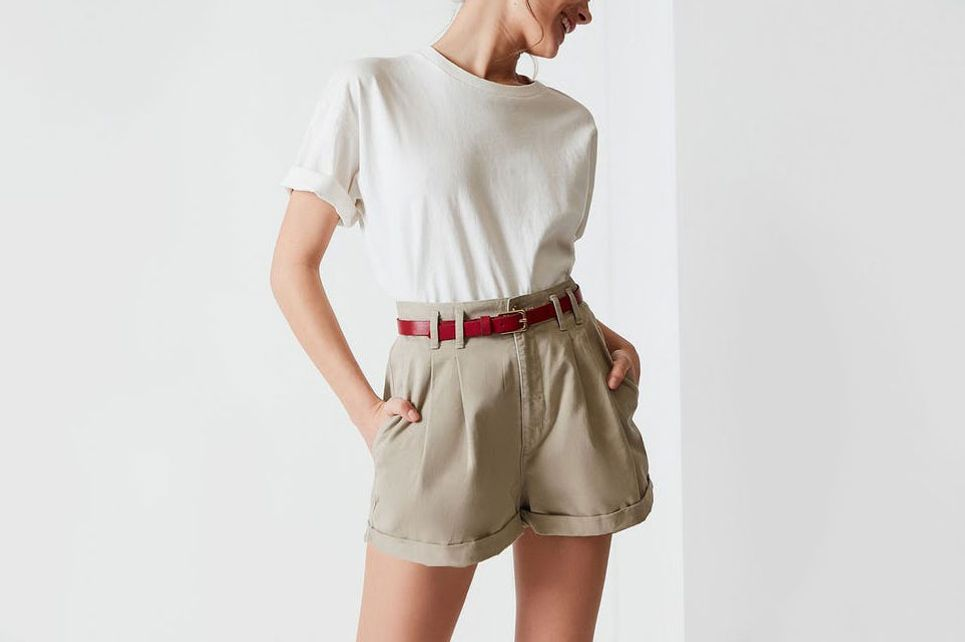 Urban Renewal Remade High-Rise Cotton Short