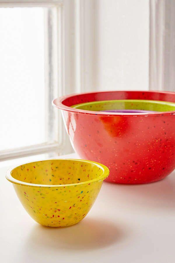 Zak Rainbow Confetti Nesting Bowl Set