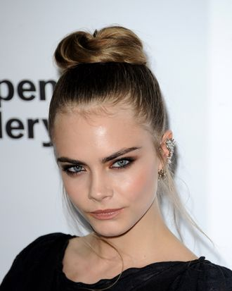 Cara Delevingne attends the Serpentine Gallery Summer Party at The Serpentine Gallery on June 26, 2012 in London, England.