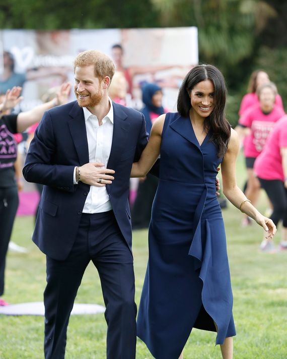 Prince Harry and Meghan Markle in Melbourne.