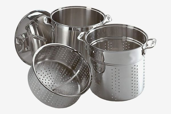 All-Clad Specialty Stainless Steel Dishwasher Safe 12-Quart Multi Cooker Cookware Set