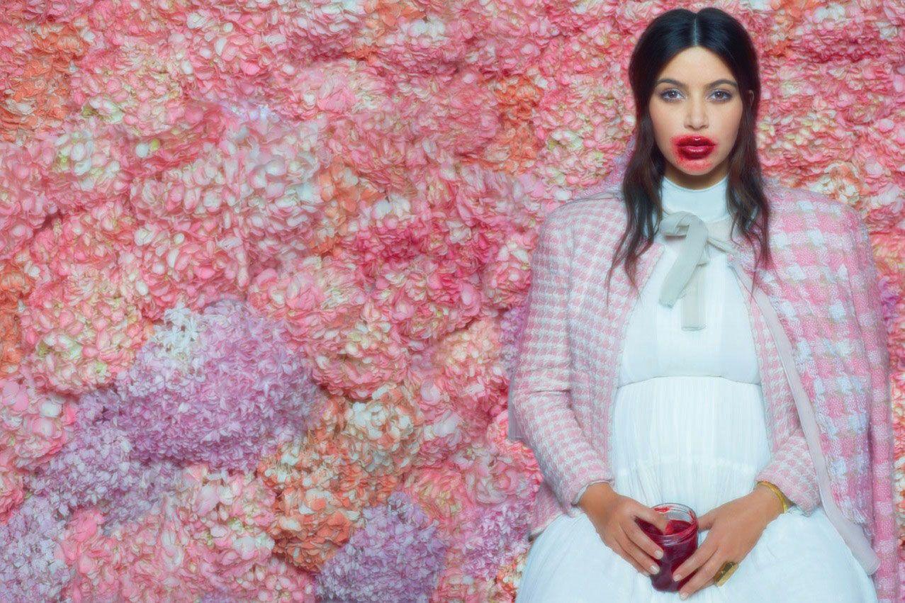Karl Lagerfeld Photographed Pregnant Kim Kardashian