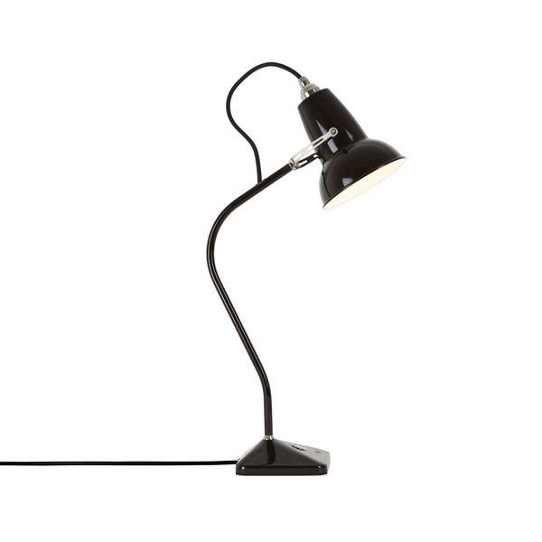 Anglepoise Original 1227 Mini Table Lamp - Jet Black with Black Cable