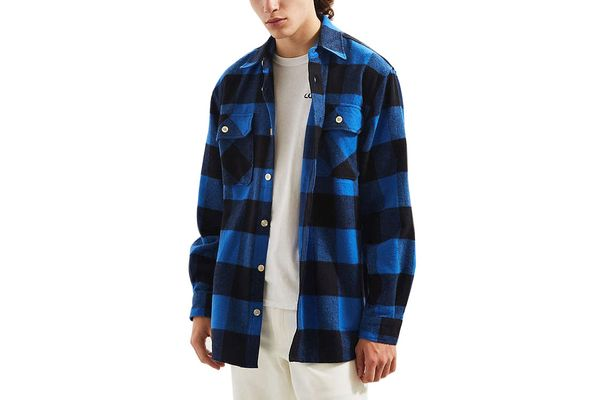 Rothco Heavyweight Buffalo Plaid Flannel Button-Down Shirt